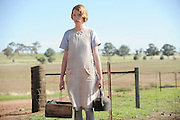 Emma Booth (Sarah Corbett) on the set of 'Blood In The Sand' - Beverley Western Australia Still photograph by David Dare Parker