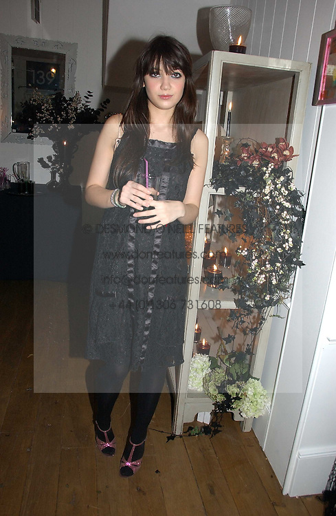 DAISY LOWE at a party to launch Pearl Lowe's fashion held at The Cross. 141 Portland Road, Holland Park, W11 on 30th October 2006.<br />