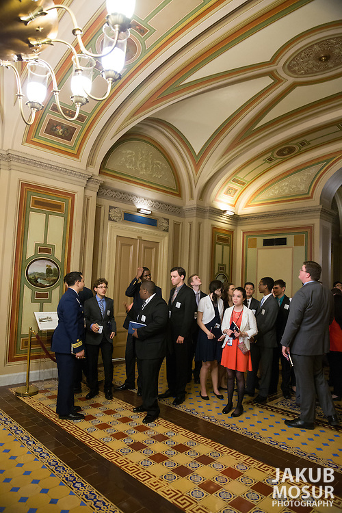 One hundred and four high school student delegates - two from each state, the District of Columbia, and the Department of Defense Education Activity - take part in the 54th annual United States Senate Youth Program held in Washington, DC on March 5-12, 2016. (© Photo by Jakub Mosur and Erin Lubin).