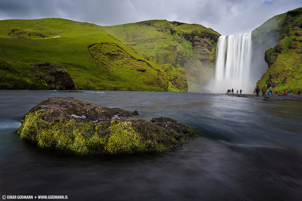 Skogafoss waterfall is in Skogá River in south-Iceland.