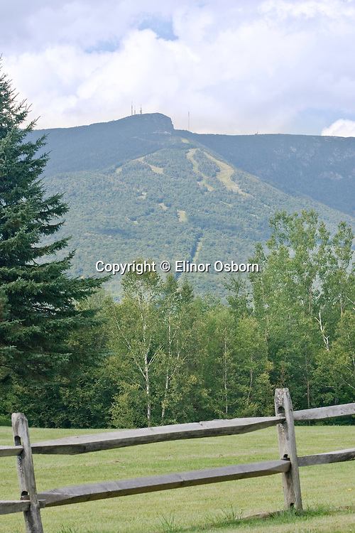 """Mt. Mansfield from Edson Hill Rd, transmitter towers on the """"Nose"""""""