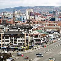 Pristina, Kosovo 17 February 2011<br /> View of Pristina, capital city of Kosovo.<br /> After the Kosovo War and the 1999 NATO bombing of Yugoslavia, the territory of Kosovo came under the interim administration of the United Nations Mission in Kosovo (UNMIK), and most of those roles were assumed by the European Union Rule of Law Mission in Kosovo (EULEX) in December 2008. <br /> In February 2008 individual members of the Assembly of Kosovo declared Kosovo's independence as the Republic of Kosovo. Its independence is recognised by 75 UN member states. <br /> On 8 October 2008, upon request of Serbia, the UN General Assembly adopted a resolution asking the International Court of Justice for an advisory opinion on the issue of Kosovo's declaration of independence.<br /> On 22 July 2010, the ICJ ruled that Kosovo's declaration of independence did not violate international law, which its president said contains no &quot;prohibitions on declarations of independence&quot;.<br /> Photo: Ezequiel Scagnetti