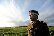 Dan Spielman as Harry, An Accidental Soldier - Photograph by David Dare Parker
