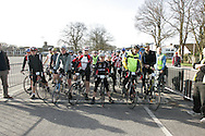Riders line up for the start of the Burgess Hill Springtime Classic Cyclostportvie.<br /> <br /> http://www.srs-events.cc