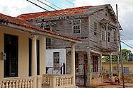 Dilapidated wooden house in San Cristobal, Artemisa, Cuba.