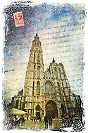 Cathedral of Our Lady, Antwerp, Belgium Forgotten Postcard