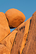 Rock formations at Jumbo Rocks area of Joshua Tree National Park, California.