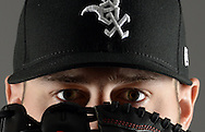 GLENDALE, ARIZONA - FEBRUARY 23:  Lucas Giolito #27 of the Chicago White Sox poses for a portrait during Photo Day on February 23, 2017 at Camelback Ranch in Glendale Arizona.  (Photo by Ron Vesely).  Object:  Lucas Giolito