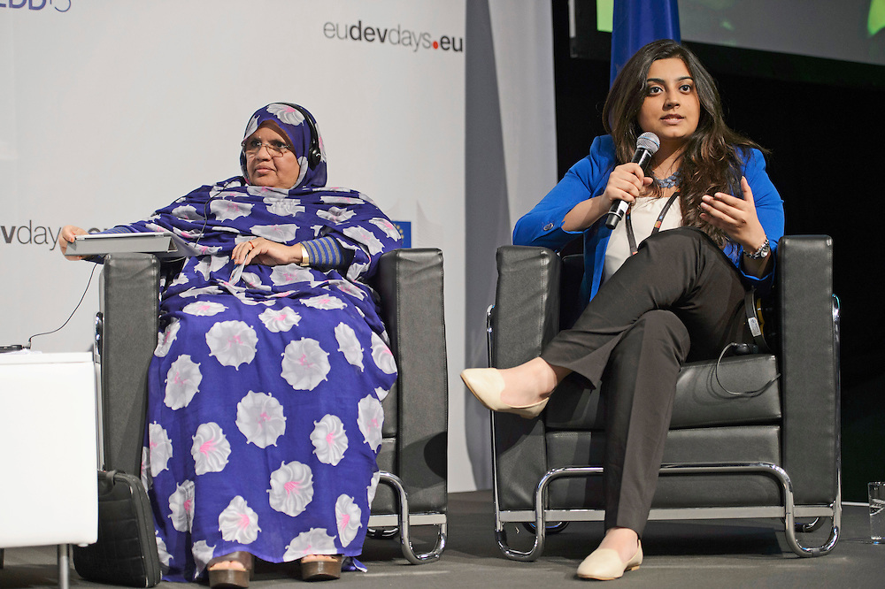 03 June 2015 - Belgium - Brussels - European Development Days - EDD - Gender - Ending gender inequality by 2030! - Tanvi Girotra , Future Leader - Fatimetou Mint Abdel Malick<br /> President, African Network of Locally Elected Women Network (REFELA) &copy; European Union