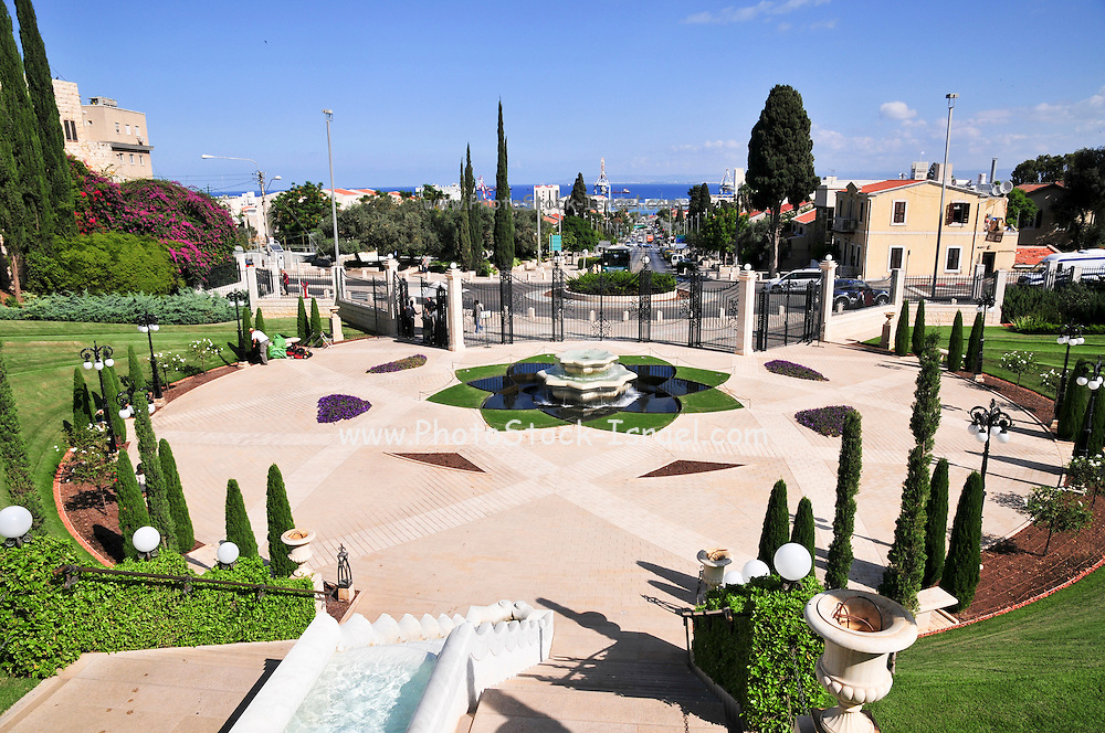 Israel, Haifa, Mount Carmel, the gardens around the Bahai Shrine of the Bab.
