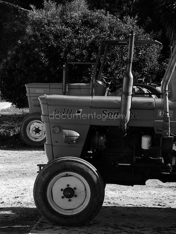 The tractors, Domaine du Jasson, La Londe Les Maures, France.