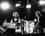 Bad Company 1976 Boz Burrell, Paul Rodgers, Mick Ralphs.© Chris Walter.