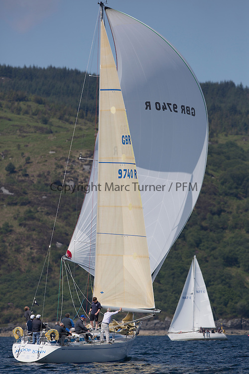 Final days' racing at the Silvers Marine Scottish Series 2016, the largest sailing event in Scotland organised by the  Clyde Cruising Club<br /> <br /> Racing on Loch Fyne from 27th-30th May 2016<br /> <br /> GBR9740R, Sloop John T, Iain &amp; Graham Thomson, CCC, Swan 40<br /> <br /> Credit : Marc Turner / CCC<br /> For further information contact<br /> Iain Hurrel<br /> Mobile : 07766 116451<br /> Email : info@marine.blast.com<br /> <br /> For a full list of Silvers Marine Scottish Series sponsors visit http://www.clyde.org/scottish-series/sponsors/