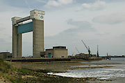 Clean water flows into the Thames from the northern outfall of Thames Water's, Beckton Sewage Treatment Works. Sewage from 3.4 million Londoners is treated on site every day. Barking Creek Tidal Barrier resembling a giant guillotine was  built over a period of four years, being completed in 1983. It is about 60 metres high, and was needed to be this size to allow shipping to reach the Town Quay in Barking further upstream. The barrier crosses the Barking Creek reach of the River Roding, at its confluence with the River Thames.