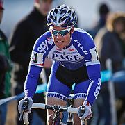 SHOT 1/12/14 4:25:14 PM - Jonathan Page (#1) of Northfield, N.H.  competes in the Men's Elite race at the 2014 USA Cycling Cyclo-Cross National Championships at Valmont Bike Park in Boulder, Co. Page finished sixth in the race. (Photo by Marc Piscotty / © 2014)