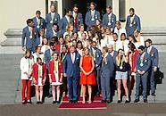 Medaillewinnaars op Paleis Noordeinde