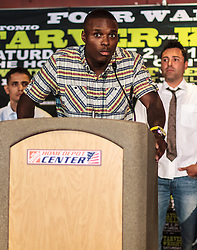 CARSON - MAY 31: Boxer Peter 'Kid Chocolate' Quiliin at Home Depot Center Press Conference. All fees must be ageed prior to publication,.Byline and/or web usage link must read PHOTO Eduardo E. Silva/SILVEX.PHOTOSHELTER.COM Failure to byline correctly will incur double the agreed fee.
