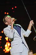 Nate Ruess of Fun. performs at Bunbury Music Festival at Yeatman's Cove in Cincinnati, Ohio on July 12, 2013.