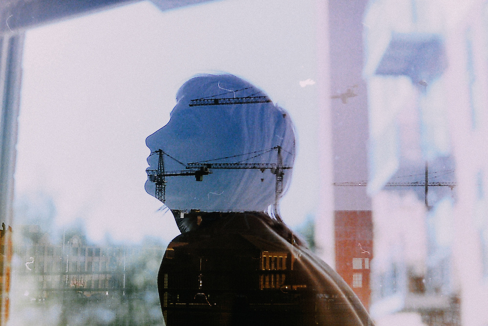 Double exposures, shot on expired 35mm Kodak and Fuji film with Olympus OM2 SLR, featuring local models and landmarks.
