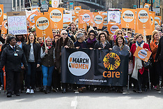 2017-03-05 Stars gather during March4Women ahead of international Women's Day, London.