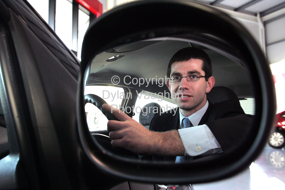 11/1/2005.Sunday Independent.Car salesman David Whittle pictured at the Citroen garage in Waterford..Picture Dylan Vaughan