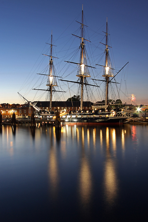 Boston night photography image of the historic USS Constitution battleship, also known as Old Ironsides, mooring in the Charlestown Navy Yard in historic Boston, Massachusetts. Boston Fireworks going off to the right of Old Ironsides. <br /> <br /> <br /> This Boston photo image is available as museum quality photography prints, canvas prints, acrylic prints or metal prints. Prints may be framed and matted to the individual liking and decorating needs:<br /> <br /> http://juergen-roth.artistwebsites.com/featured/boston-fireworks-juergen-roth.html<br /> <br /> All photographs are available for digital and print use at www.ExploringTheLight.com. Please contact me direct with any questions or request.<br /> <br /> Good light and happy photo making!<br /> <br /> My best,<br /> <br /> Juergen<br /> www.RothGalleries.com<br /> www.ExploringTheLight.com<br /> http://whereintheworldisjuergen.blogspot.com<br /> @NatureFineArt<br /> https://www.facebook.com/naturefineart