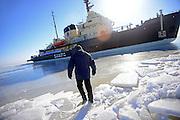 Jukka-Pekka Kuusinen, first officer of Sampo Icebreaker cruise, an authentic Finnish icebreaker turned into touristic attraction in Kemi, Lapland