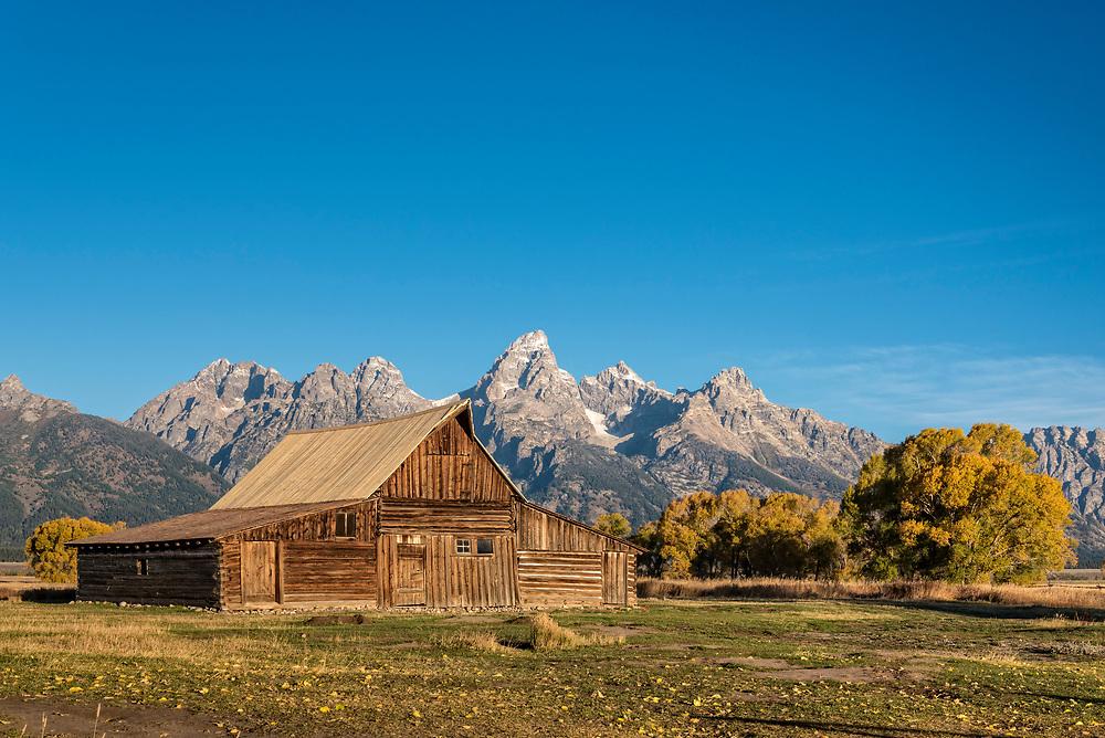 T. A. Moutlon Barn on Mormon Row, Grand Teton National Park, Wyoming.