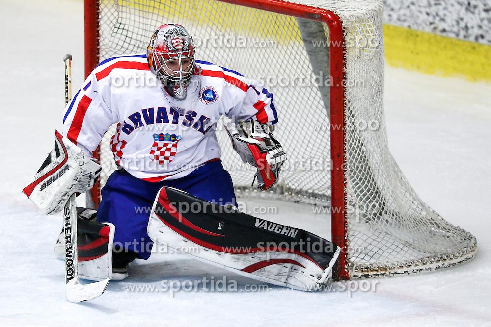 Vilim Rosandic of Croatia during friendly ice hockey match between Slovenia and Croatia, on April 12, 2016 in Ledena dvorana, Bled, Slovenia. Photo By Matic Klansek Velej / Sportida