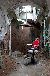 Barber shop in Eastern State Penitentiary in Philadelphia, PA