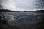 PALMER, AK - MAY 2013: Matanuska Lake where police found Samatha Koenigs remains.