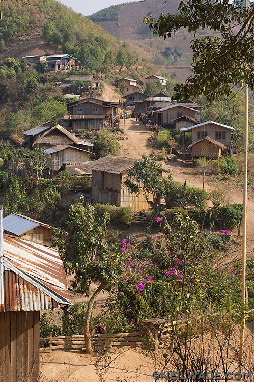 A small hill village in the hills near Kalaw, Myanmar.