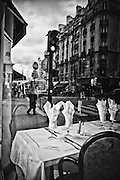 Reflection in Paris restaurant window