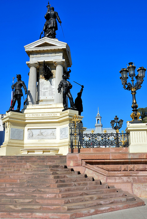 Monument to the Heroes of Iquique in Valpara&iacute;so, Chile<br />