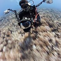 Zoom zoom. Faaaast drift dive in French Polynesia. Photo: Douglas Seifert.