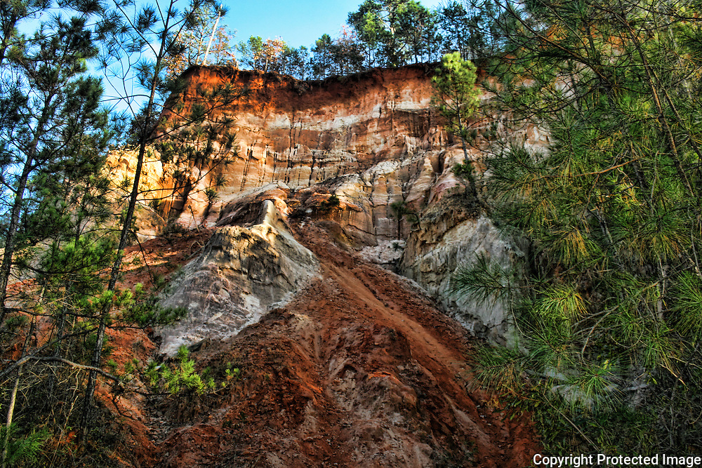 Providence Canyon, Georgia. The Grand Canyon of Georgia, colored clay formations.