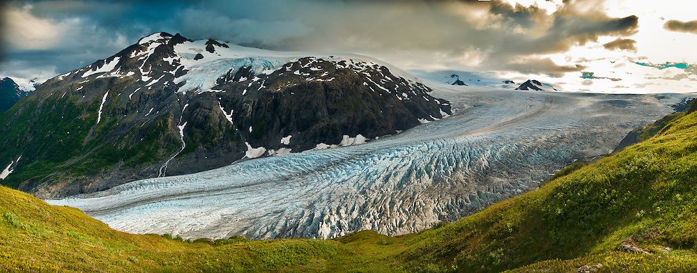 Panorama of the Harding Icefield & Exit Glacier, Kenai Fjords National Park, Seward, Alaska