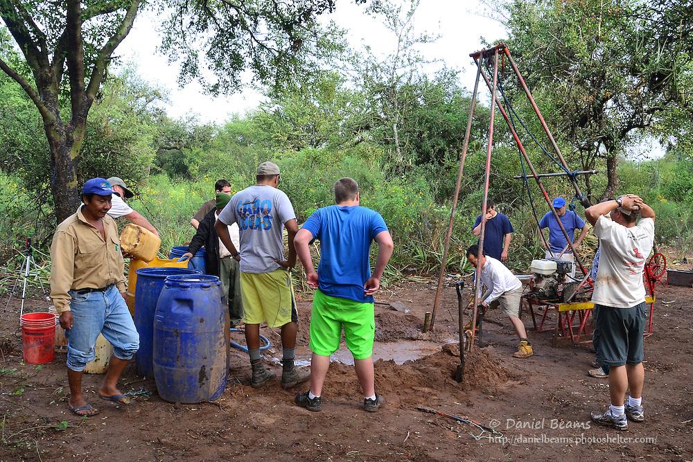 Mission team water well drilling in Isosog, Santa Cruz, Bolivia