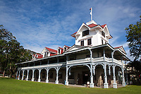 Silliman University is a private research university in Dumaguete, Philippines.Established in 1901 as Silliman Institute by the Presbyterian Foreign Missions, it is the first American private university in the country and was named after Dr. Horace Brinsmade Silliman, a retired businessman and philanthropist from New York who gave the initial sum of $10,000 to start the school. Starting out as an elementary school for boys, the school expanded to become a college in 1910, then acquiring university status in 1938. For the first half of the 20th century, Silliman was run and operated by Americans. After the Second World War Filipinos assumed more important positions, culminating in the appointment of Silliman's first Filipino president in 1952. Today, the university cis made up of ten colleges, four schools and two institutes, enrolling over 8600 students from the Philippines and from at least twenty foreign countries. It is registered as a National Landmark in the Philippines.