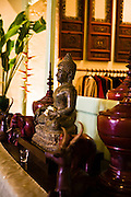 Buddah and lacquer items at China Inn Cafe & Restaurant, Phuket Old Town