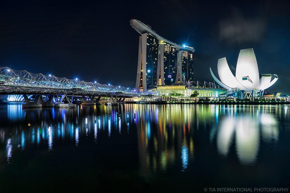 The Helix Bridge, Marina Bay Sands Resort & ArtScience Museum, Singapore