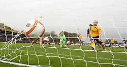 Falkirk's Farid El Alagui celebrates after scoring their second goal..Annan Athletic 0 v 3 Falkirk. Semi Final of the Ramsdens Cup, 9/10/2011..Pic © Michael Schofield.