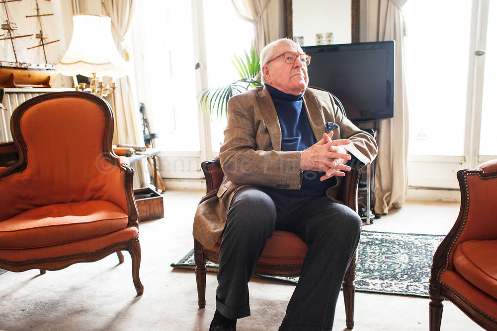 Interview with the Sunday Times of French far right politician Jean Marie Le Pen at his office in Saint Cloud, 05 May 2017.