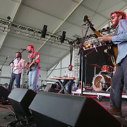 Dr. Dog performs during the third day of the 2007 Bonnaroo Music & Arts Festival on June 16, 2007 in Manchester, Tennessee. The four-day music festival features a variety of musical acts, arts and comedians..Photo by Bryan Rinnert.
