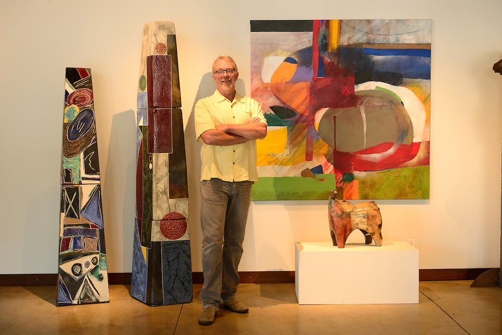 Owner Chris Hawthorne,Hawthorne Gallery, Port Orford, Oregon, USA