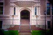 HL00014-00...WASHINGTON - Holga image of entrance to Savery Hall on the campus of University of Washington in Seattle.
