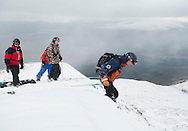 Nevis Range Back Corries Ski and Snowboard workshop with avalanche probe, shovel and transceiver training.28/1/2012...pic Alex Hewitt.alex.hewitt@gmail.com