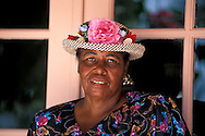Local Woman with flower hat, Veronica Knowles, Long Island, Bahamas
