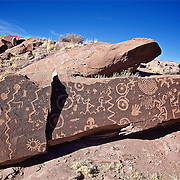 Jitterbug Petroglyph, rock art left by ancient Puebloan's who told their story on varnished rocks.