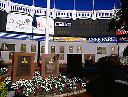 Monument Park in Old Yankee Stadium, 2000